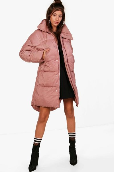 Boohoo Boutique Funnel Neck Padded Jacket in dusky pink - Wrap up in the latest coats and jackets and get...