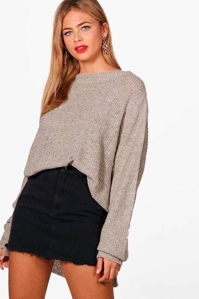Boohoo Faye Oversized Boucle Marl Jumper in beige - Sweaters are a key piece for your casual wardrobe. Think...