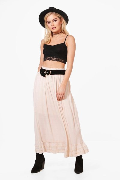 BOOHOO Georgia Maxi Skirt in beige - Skirts are the statement separate in every wardrobe This...