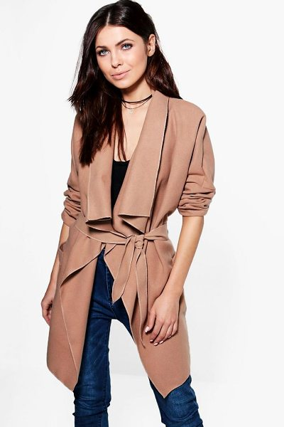 BOOHOO Georgia Waterfall Wool Look Coat - Wrap up in the latest coats and jackets and get...
