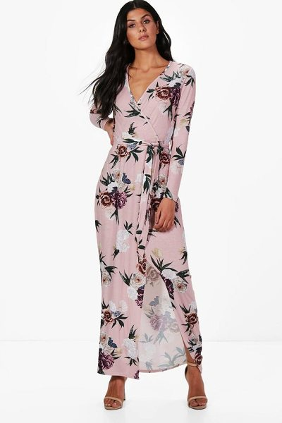 BOOHOO Georgiana Floral Wrap Maxi Dress - Take your style to the max with the always gorgeous maxi...