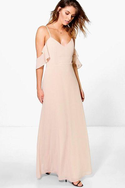 BOOHOO Chiffon Strappy Open Shoulder Maxi Dress - Dresses are the most-wanted wardrobe item for...