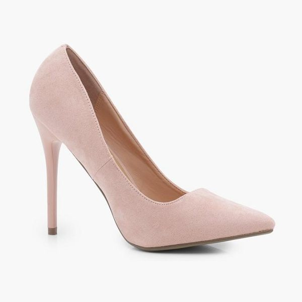 Boohoo Grace Pointed Stiletto Court in blush - We'll make sure your shoes keep you one stylish step...