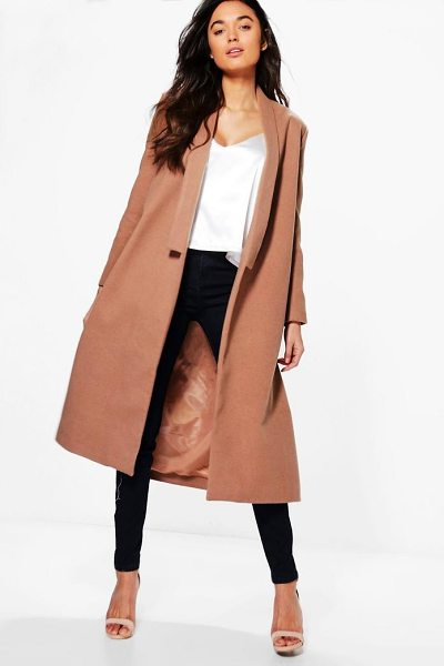 BOOHOO Shawl Collar Wool Coat - Wrap up warm in the latest wool look outerwear. A...