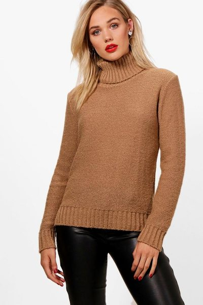 BOOHOO Grace Soft Knit Roll Neck Jumper - Nail new season knitwear in the jumpers and cardigans...