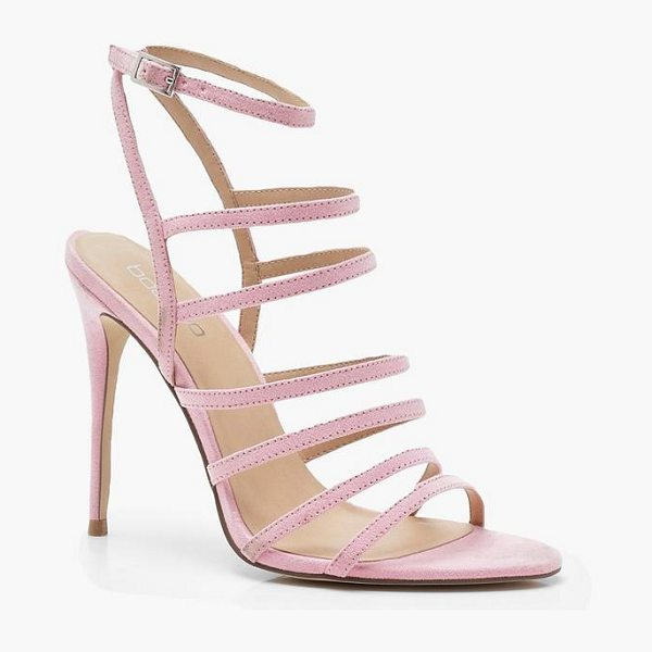 Boohoo Multi Strap Gladiator Heels in baby pink - We'll make sure your shoes keep you one stylish step...