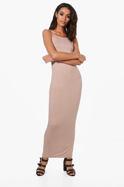 BOOHOO Han Double Layer Strappy Bodycon Maxi Dress - Dresses are the most-wanted wardrobe item for...