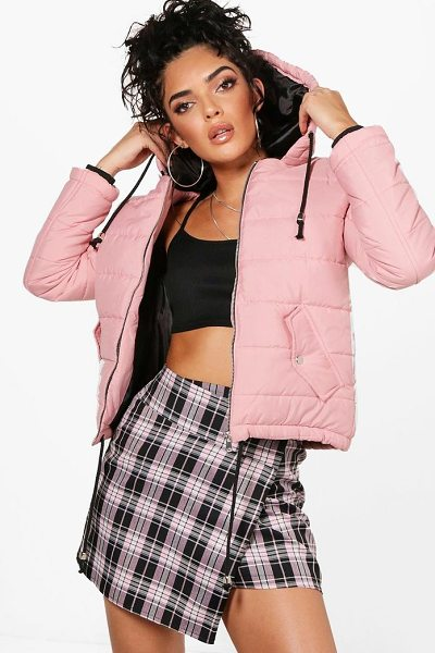 BOOHOO Harriet Hooded Padded Jacket - Just because it's raining outside doesn't mean you have to...