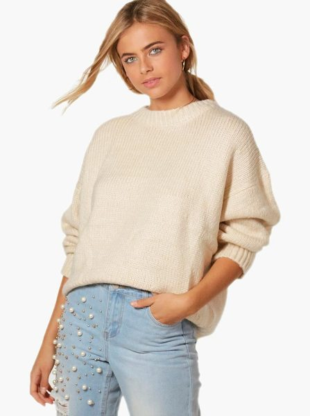 Boohoo Oversized Jumper in brown - Nail new season knitwear in the jumpers and cardigans...