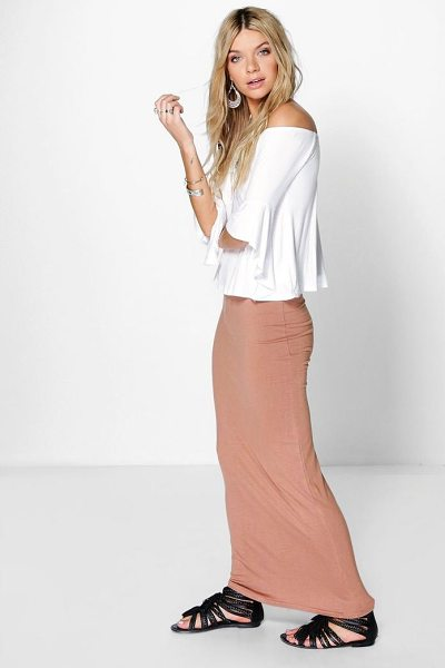 Boohoo Basic Jersey Maxi Skirt in camel - Skirts are the statement separate in every wardrobe This...