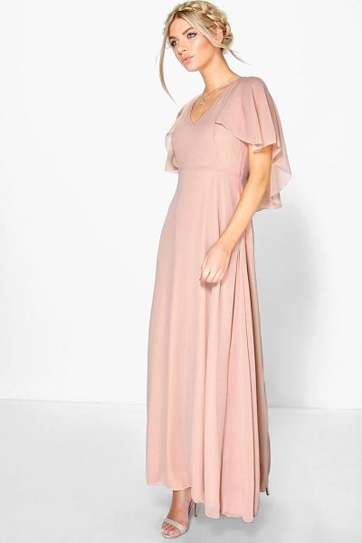 BOOHOO Chiffon Cape Detail Maxi Dress - Dresses are the most-wanted wardrobe item for...