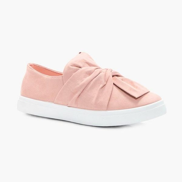 BOOHOO Imogen Knot Front Skater - We'll make sure your shoes keep you one stylish step...