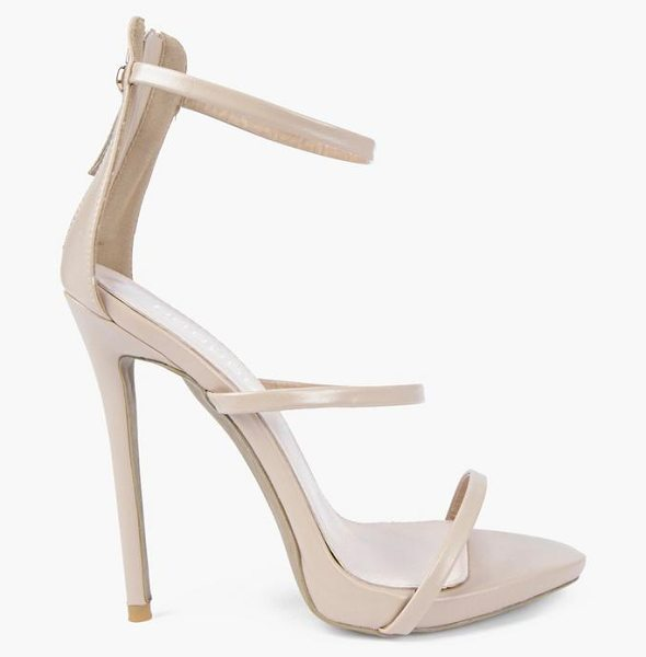 Boohoo Single Platform Strappy Heels in nude - We'll make sure your shoes keep you one stylish step...