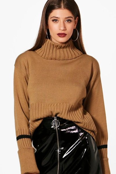 BOOHOO Isabella Stripe Tip Deep Cuff Jumper - Nail new season knitwear in the jumpers and cardigans...