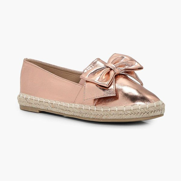 BOOHOO Isla Bow Trim Espadrille - We'll make sure your shoes keep you one stylish step...