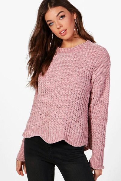 Boohoo Isla Chenille Jumper in pink - Nail new season knitwear in the jumpers and cardigans...