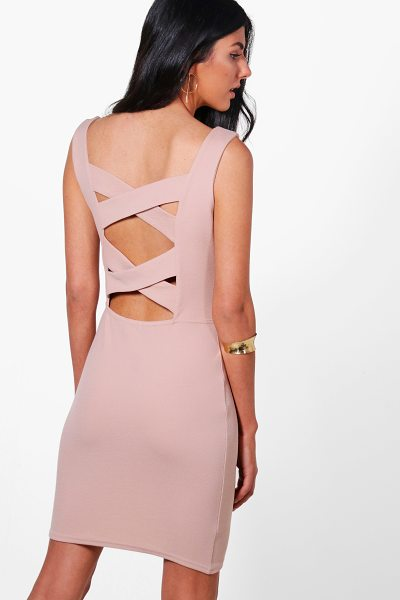 BOOHOO Isla Strapy Cross Back Bodycon Dress - Dresses are the most-wanted wardrobe item for...