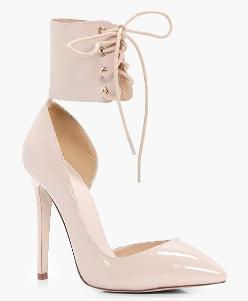 BOOHOO Isobel Lace Up Ankle Band Court Stiletto - We'll make sure your shoes keep you one stylish step...