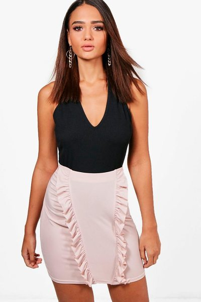 BOOHOO Ruffle Drape Front Mini Skirt - Skirts are the statement separate in every wardrobe This...
