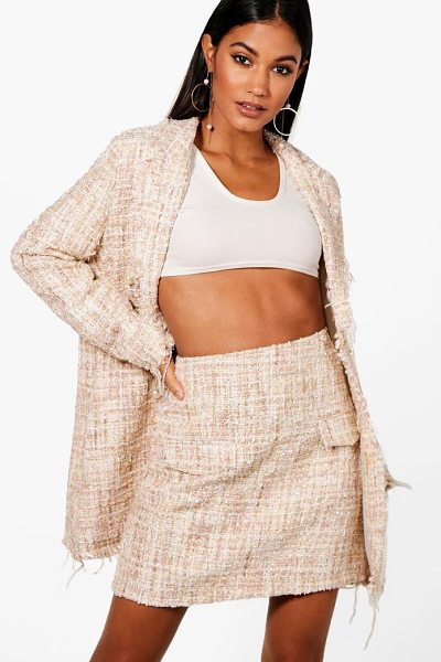 BOOHOO Jade Boucle Mini Skirt - Knock 'em dead and show off those pins with a killer mini...