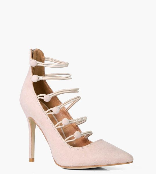 Boohoo Jasmine Wrap Up Court Heel in nude - We'll make sure your shoes keep you one stylish step...
