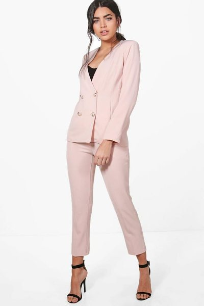 Boohoo Jennifer Woven Tailored Trouser in nude - Trousers are a more sophisticated alternative to...
