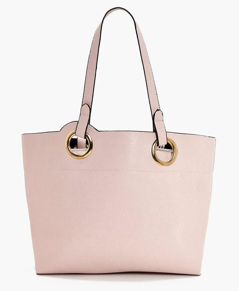 Boohoo Jess Ring Handle Detail Day Bag in natural
