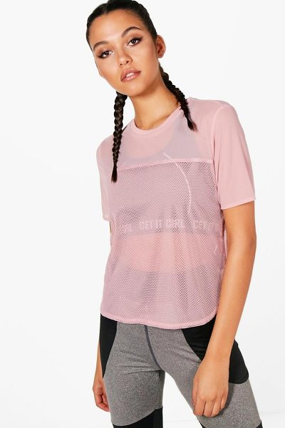 BOOHOO Jessica Fit Mesh Sports T-Shirt - Come out on top in the gym and with your style, in our...
