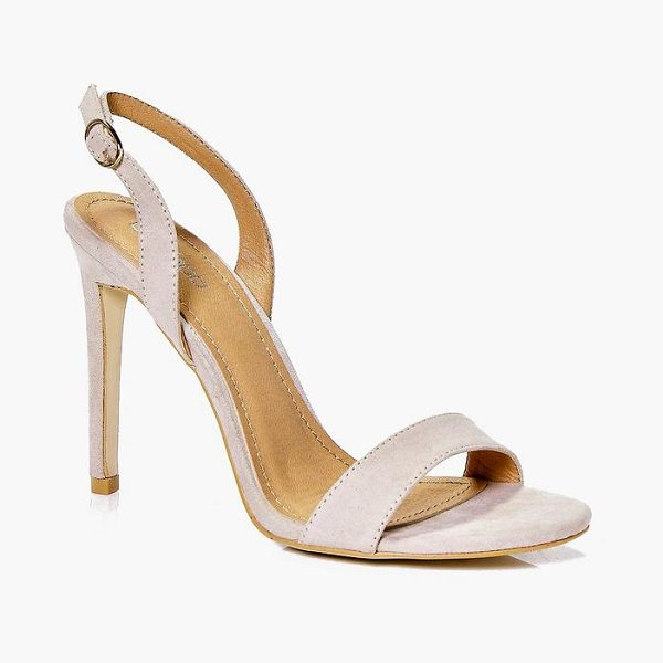 Boohoo Slingback Two Part Sandals in nude