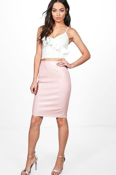 BOOHOO Leather Look Midi Skirt - Skirts are the statement separate in every wardrobe This...