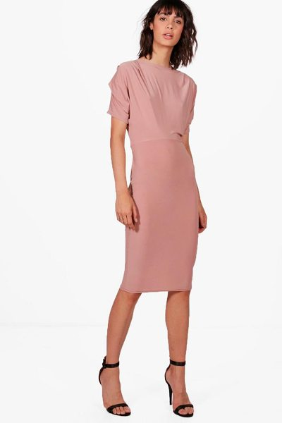 Boohoo Slinky Midi Dress in rose - Dresses are the most-wanted wardrobe item for...