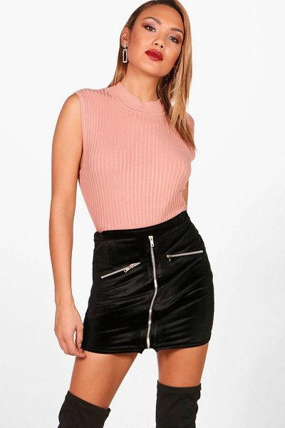 Boohoo Knitted Turtle Neck Top in dusky pink - Nail new season knitwear in the jumpers and cardigans...