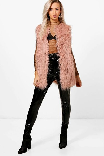 BOOHOO Mongolian Faux Fur Gilet - Wrap up in the latest coats and jackets and get...