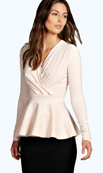 BOOHOO Laura Wrap Over Peplum Top - Peplum top with wrap over designFor fabulously...