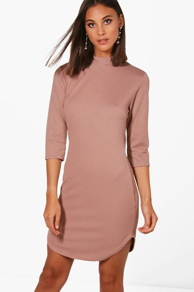 BOOHOO Lauren Heavy Rib Curved Hem Bodycon Dress - Going out' We've got all the must have mini dresses:...
