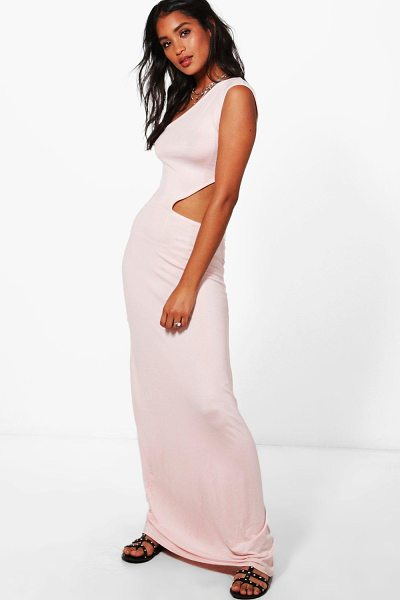Boohoo One Shoulder Cut Out Maxi Dress in candlelight peach - Dresses are the most-wanted wardrobe item for...