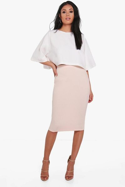 Boohoo Boxy Crop And Midi Skirt Co-Ord in blush - Co-ordinates are the quick way to quirky this seasonMake...