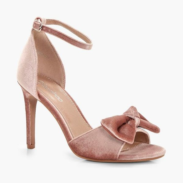 BOOHOO Libby Bow Trim 2 Part Heels - We'll make sure your shoes keep you one stylish step...