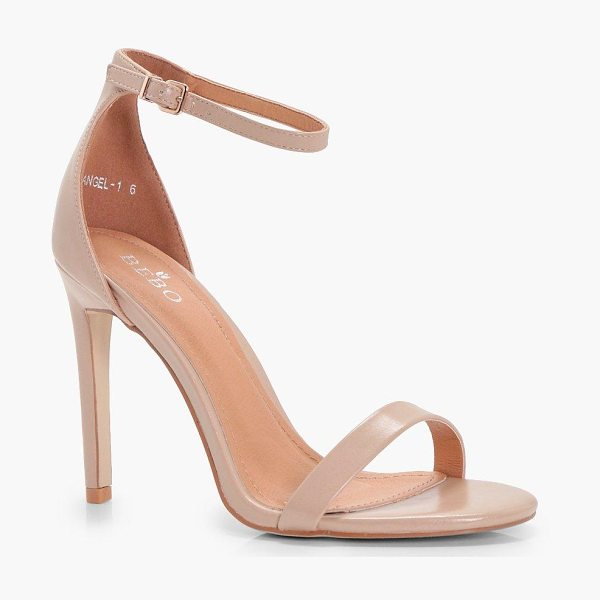 Boohoo Two Part Heels in nude - We'll make sure your shoes keep you one stylish step...