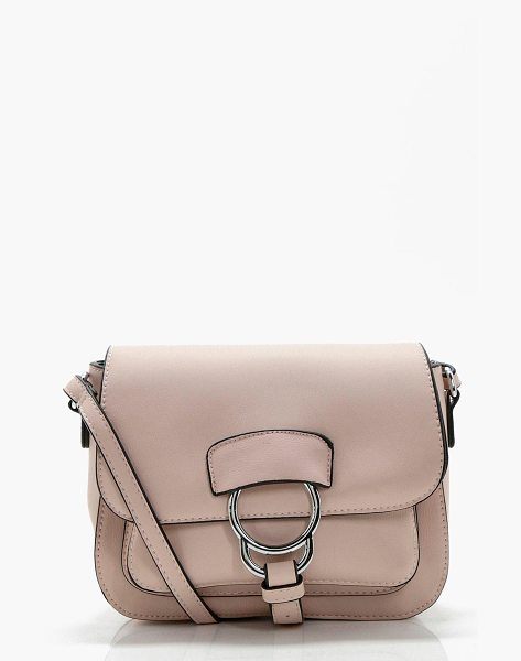 BOOHOO Lilly Ring Detail Cross Body in beige - Add attitude with accessories for those fashion-forward...
