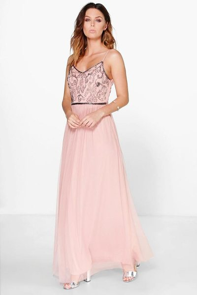 BOOHOO Boutique Embellished Prom Maxi Dress - Dresses are the most-wanted wardrobe item for...