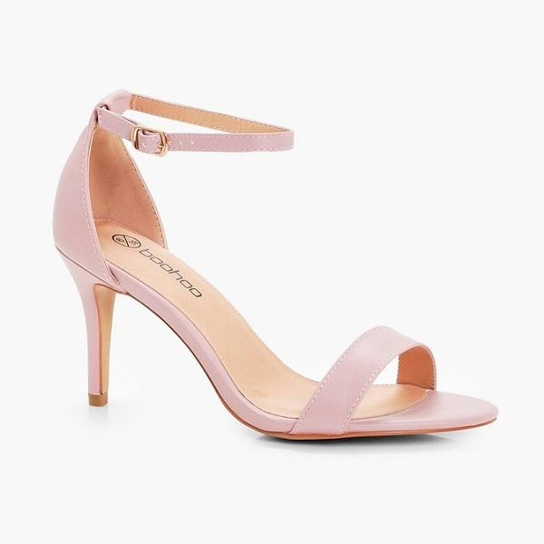 Boohoo Lois Low Heel Two Part Sandals in blush - We'll make sure your shoes keep you one stylish step...