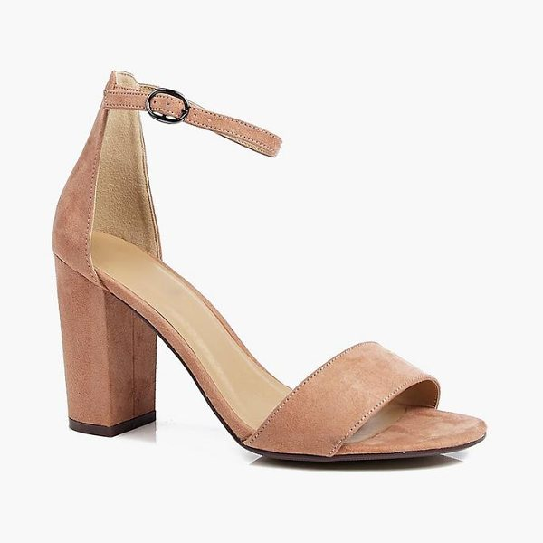 Boohoo Two Part Block Heels in mocha