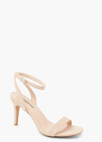 Boohoo Low Heel Basic 2 Parts in blush