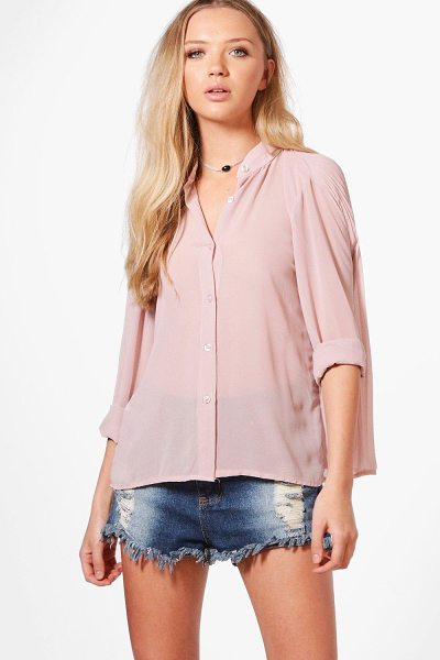 BOOHOO Lucy Button Through Pleated Back Blouse - Steal the style top spot in a statement separate from...
