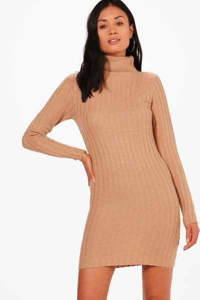 BOOHOO Lucy Longline Ribbed Roll Neck Tunic - Just because the temperatures are low doesn't mean your...
