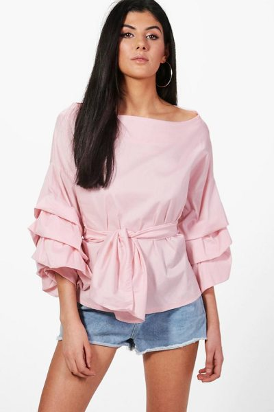 BOOHOO Lucy Premium Woven Ruffle Sleeve Top - We believe in rocking killer tops on a day-to-day basis,...