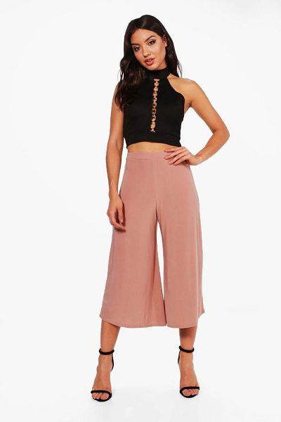 BOOHOO Soft Slinky Wide Leg Culottes - Trousers are a more sophisticated alternative to...