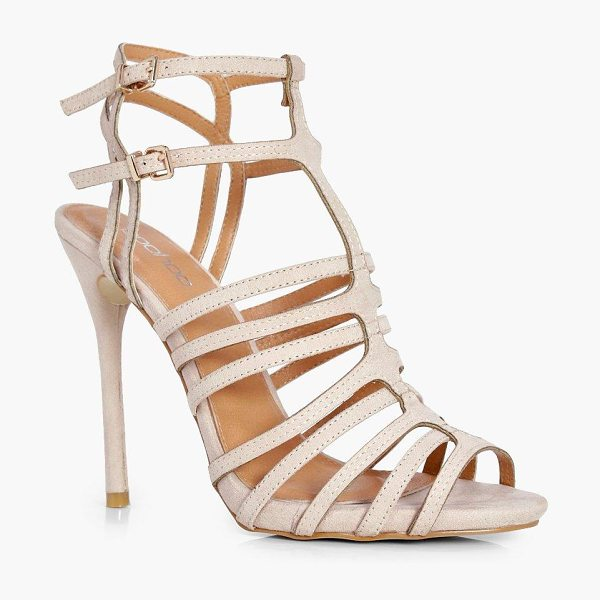 Boohoo Lucy Strappy Heel in nude - We'll make sure your shoes keep you one stylish step...