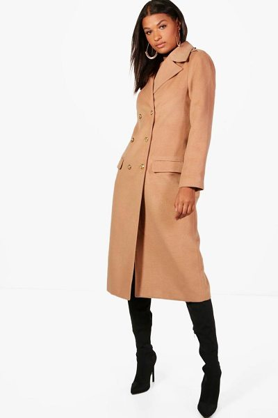BOOHOO Double Breasted Military Coat - Wrap up in the latest coats and jackets and get...